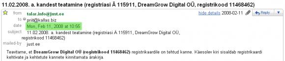 dreamgrow-asutamine-email