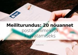 meiliturundus 20 nouannet postitusnimekirja kasvatamiseks