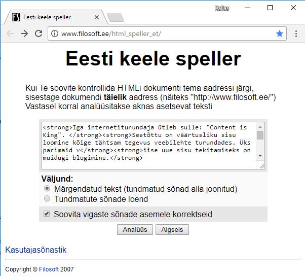 eesti keele speller