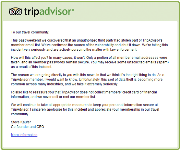 tripadvisor kriisikommunikatsioon