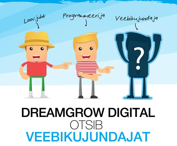 DreamGrow otsib veebikujundajat