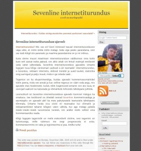 sevenline blogimine