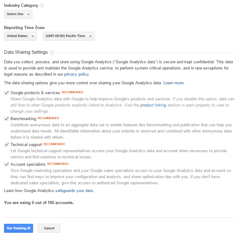 google analytics konto seaded 2