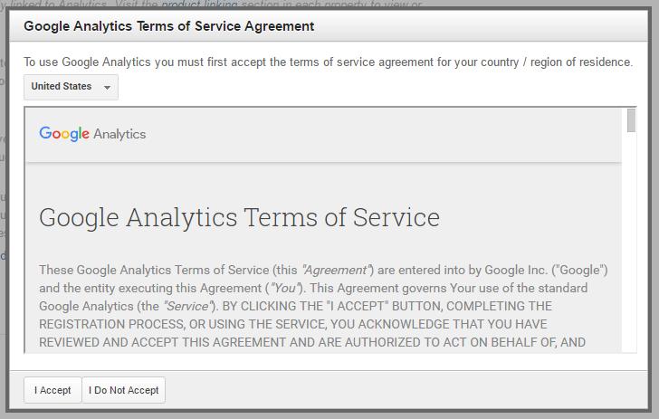 google analytics tingimused