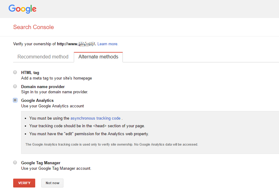 kodulehe optimeerimine google search console kinnitus 2