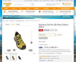 müük e-poes 360°-vaade wiggle.co.uk toode