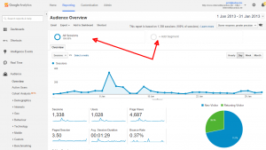 google analytics spamm segmendid
