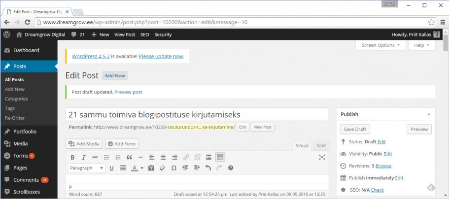 sisuturundus wordpress
