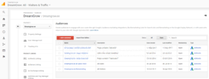 google analytics remarketing lists