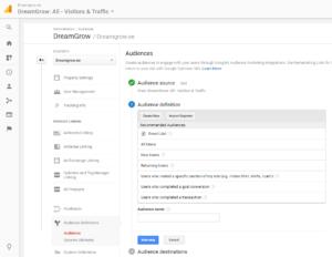 google analytics remarketing seaded