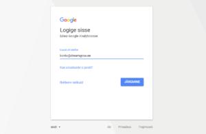 google analytics konto seadistamine logi sisse