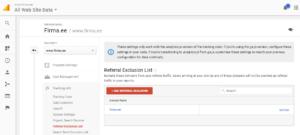 google analytics seaded viitajate valistamine