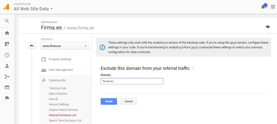 google analytics seaded viitajate valistamine 2