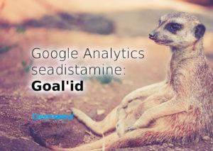 google analytics seadistamine goalid