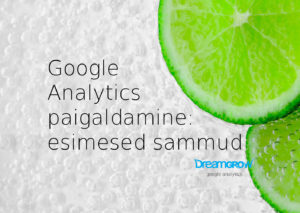 google analytics seadistamine paigaldamine