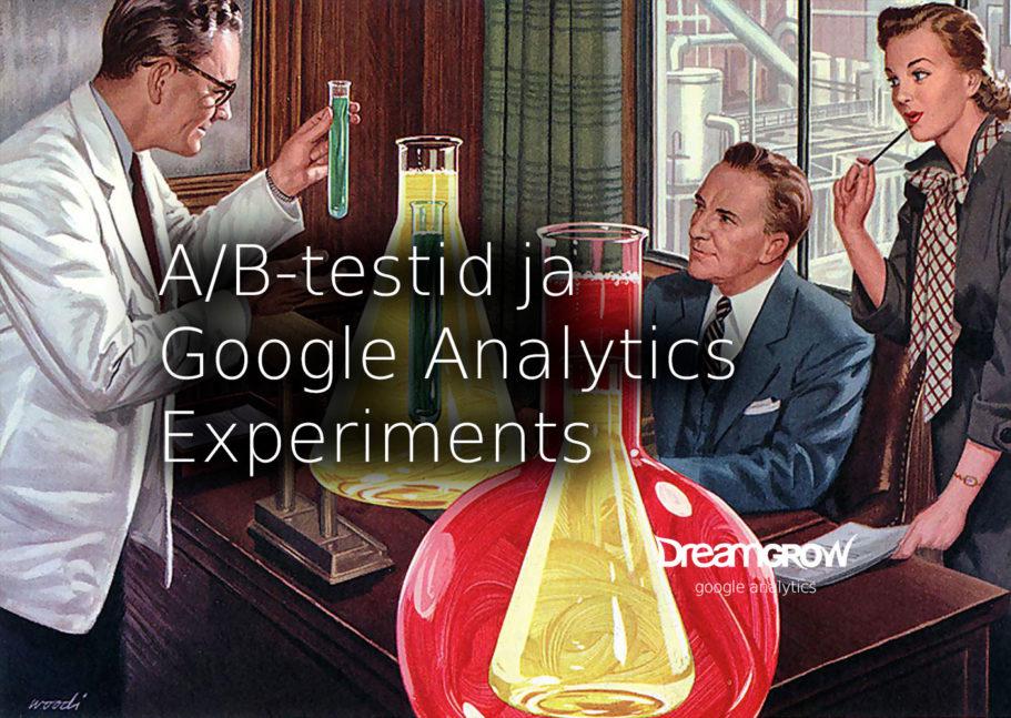 ab testimine google analytics