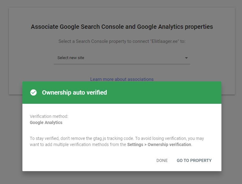 kodulehe optimeerimine google search console lehe lisamine adukas