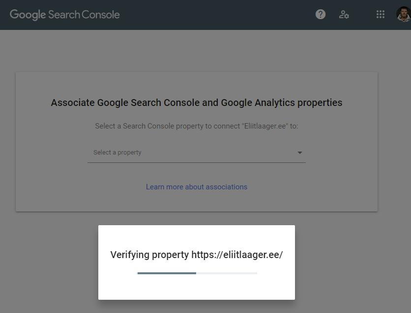 kodulehe optimeerimine google search console lehe lisamine