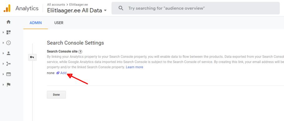 kodulehe optimeerimine google search console lisamine 2 seo