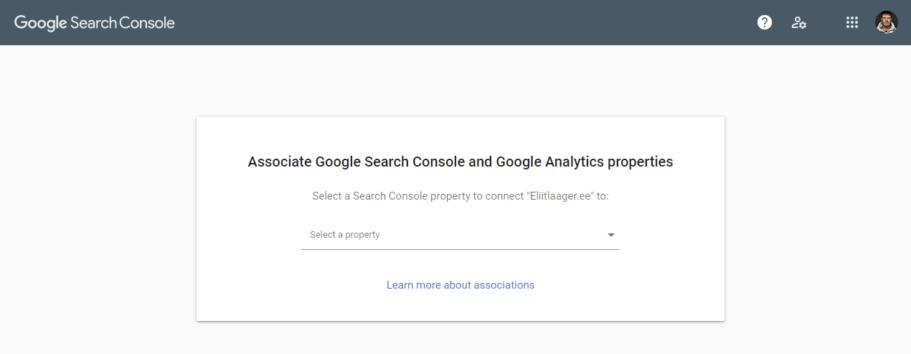 kodulehe optimeerimine google search console lisamine