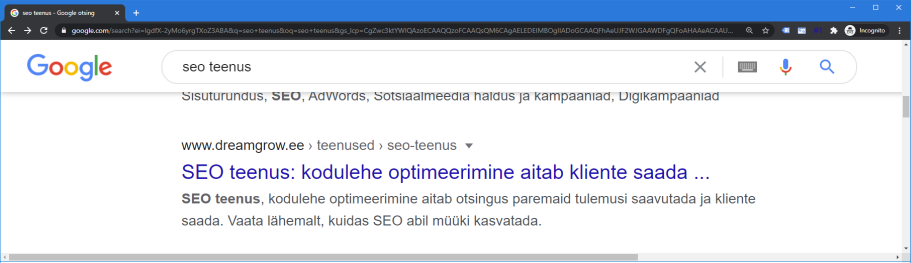 seo aadress