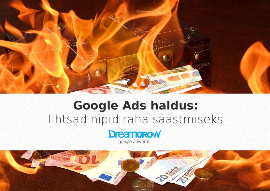 google ads haldus raha nipid