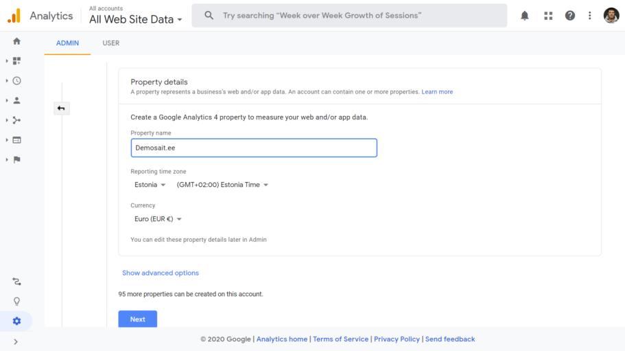google analytics 4 seadistamine 3