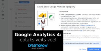 google analytics 4 seadistamine