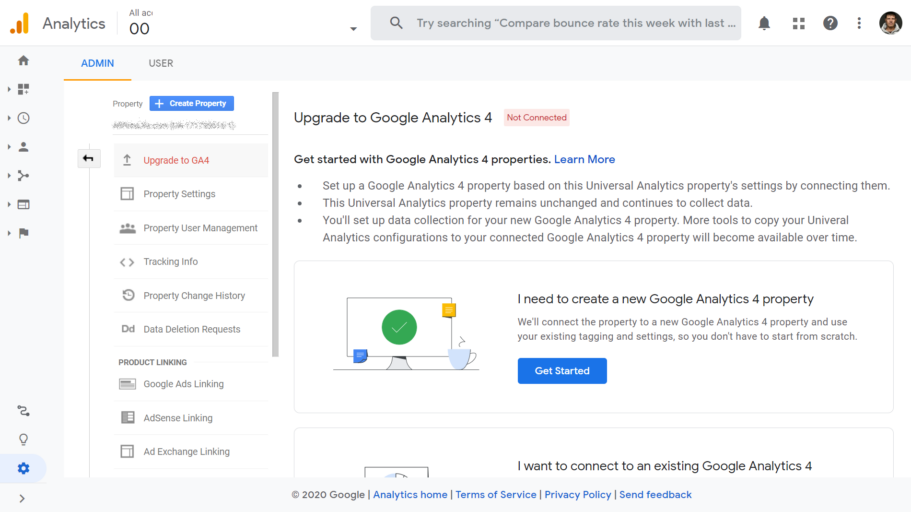 google analytics 4 uuendamine