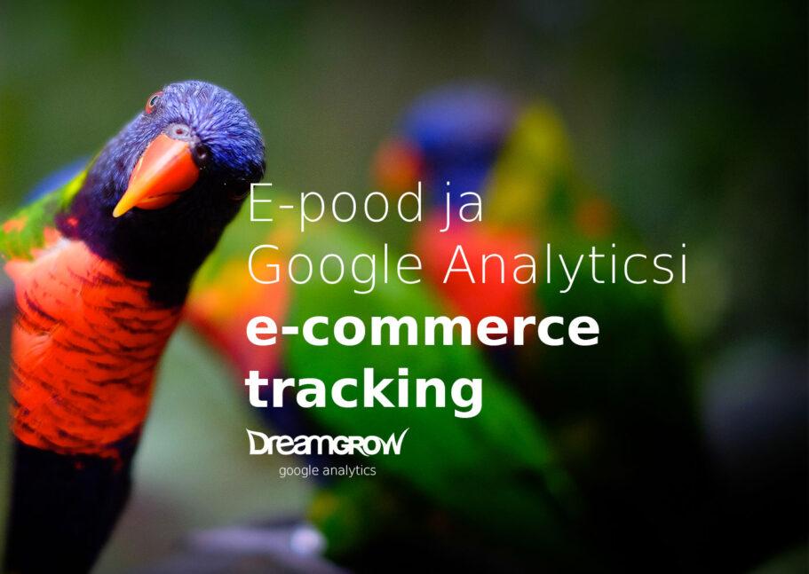 e pood ja google analyticsi e commerce tracking